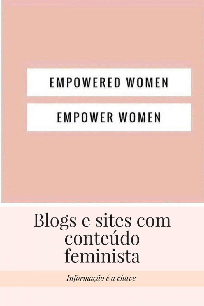 Blogs e sites comconteúdofeminista
